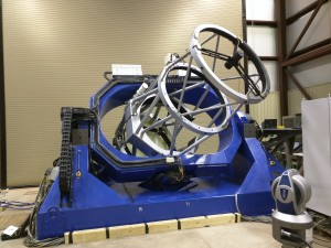 The first 1.4-meter telescope of the MORI in the Telescope Receiving bay.